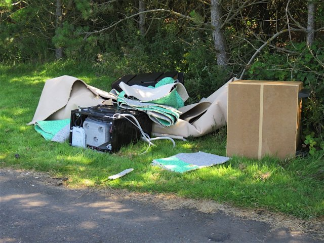 Fly-tipped litter