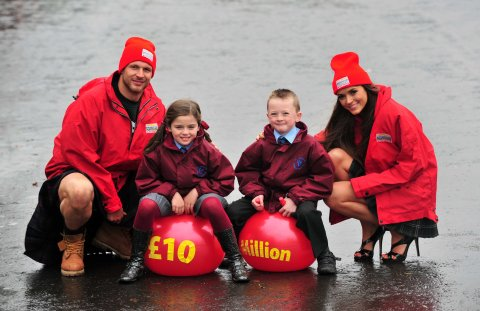 Mr and Miss Scotland celebrate £10million raised for UK charities by People's Postcode Lottery