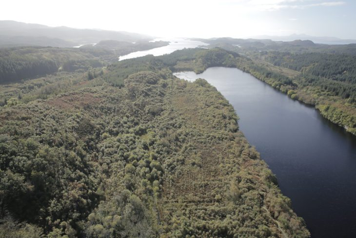 Aerial view of Dubh Loch © Upper Cut Productions
