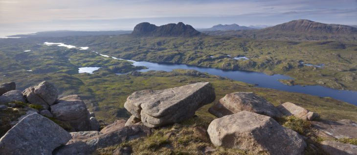 The Assynt ranges, part of the Coigach-Assynt Living Landscape