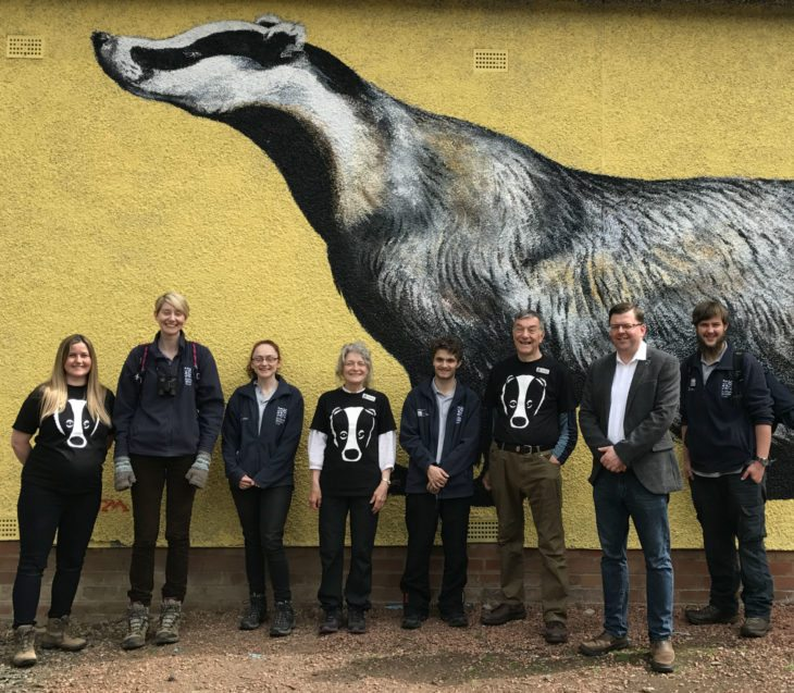 Colin Smyth MSP joined the Scottish Wildlife Trust and Scottish Badgers to launch Scottish Badger Week © Lyndsay Mark / Scottish Wildlife Trust