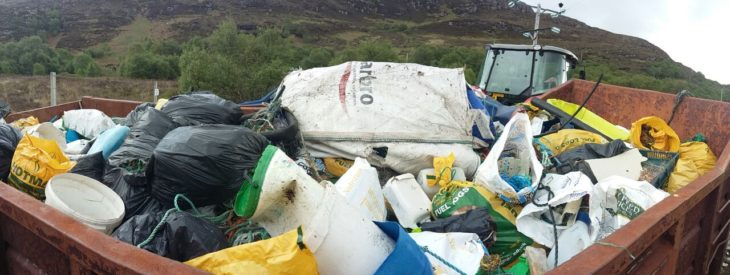 300 bags of rubbish collected during a beach clean at Dun Canna © Noel Hawkins