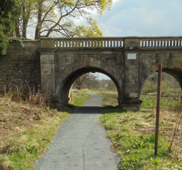 The restored 1.3km of pathway goes under the iconic Mauldslie Bridge