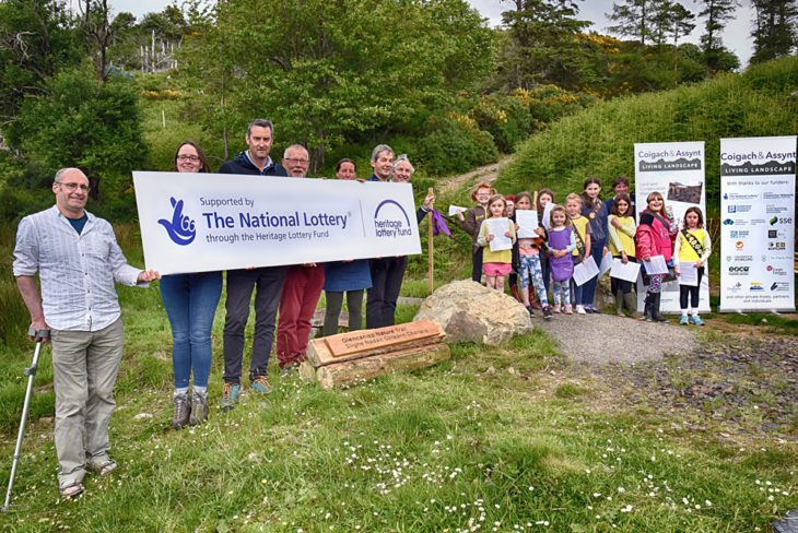 Jonny Hughes and Bella MacAskill officially open the new nature trail © Chris Puddephatt