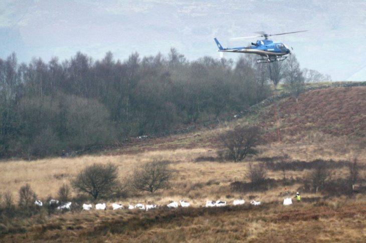 Helicopter drop © Sven Rasmussen