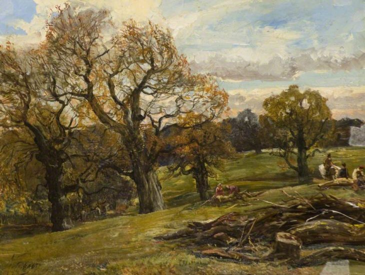 Fraser, Alexander, 1827-1899; Cadzow Forest © Painting courtesy of Art UK