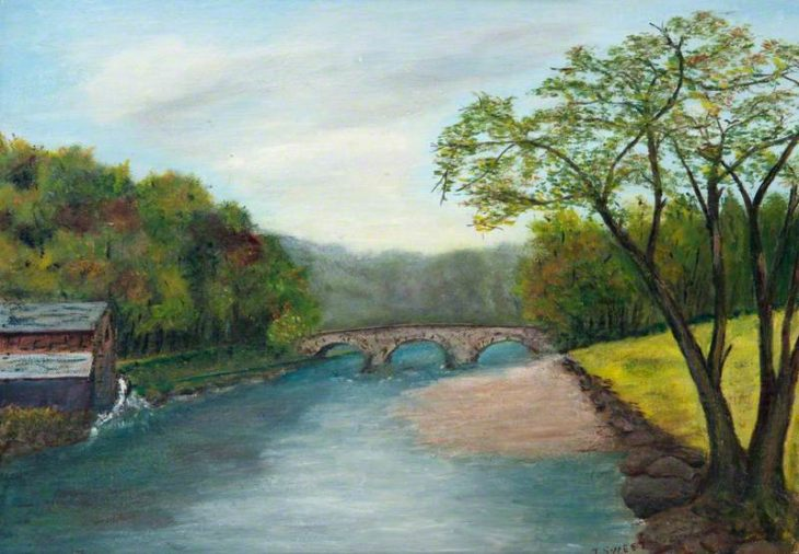 Sweet (Miss), J., active 1902-1968; Old Mill on the Avon © Painting courtesy of Art UK