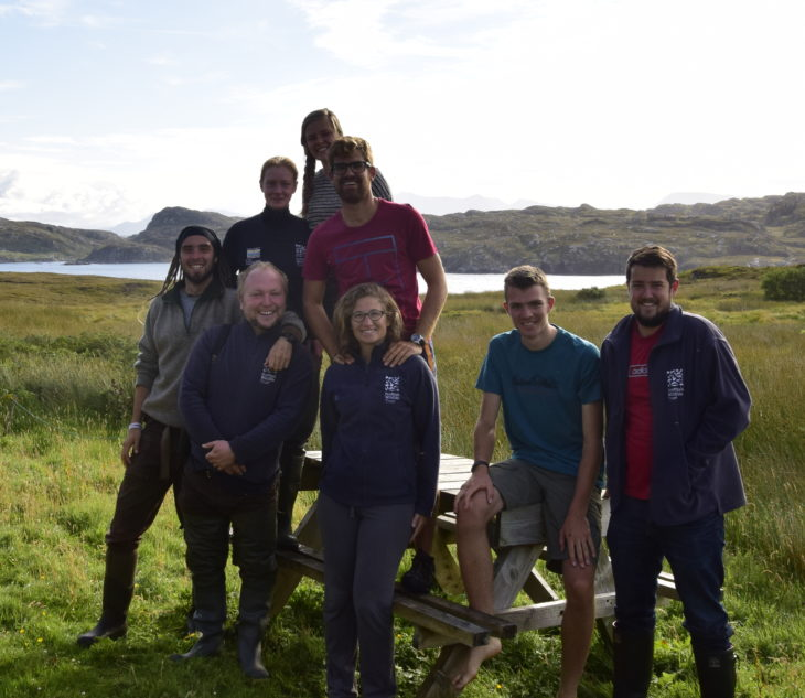 Volunteers on Handa ©Scottish Wildlife Trust