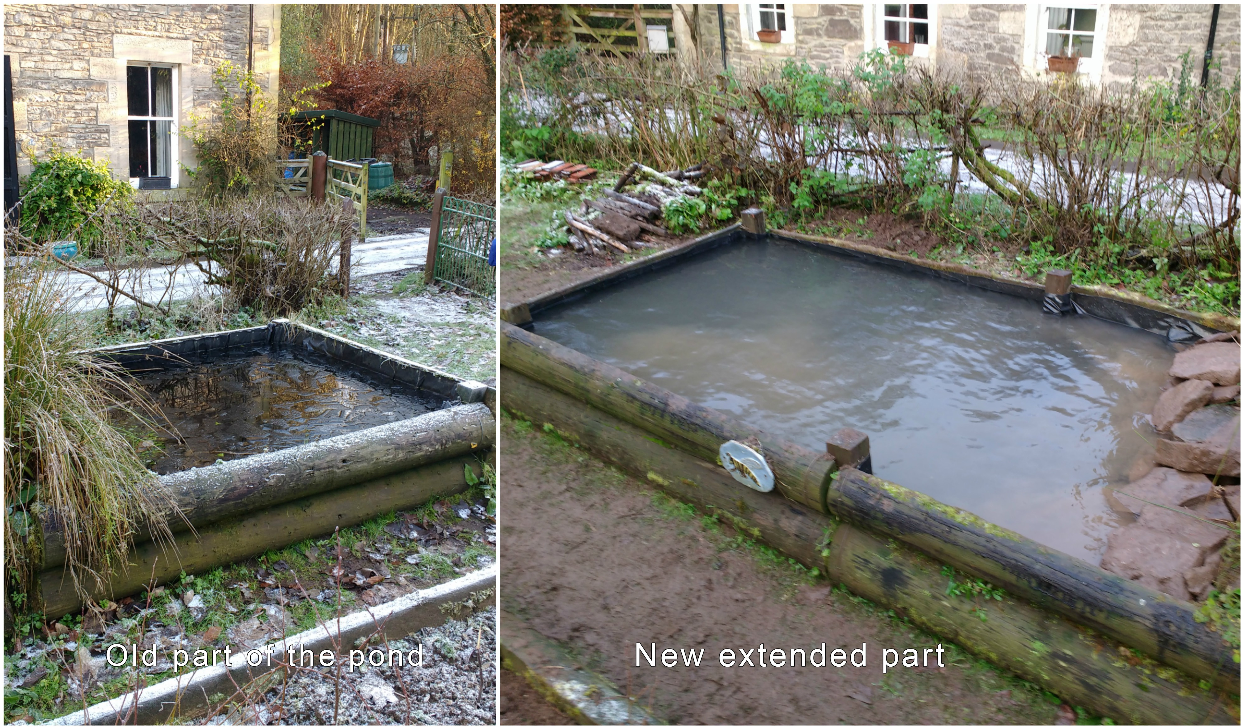 Old and extended pond ©Laura Preston