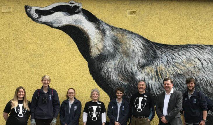 Badger mural