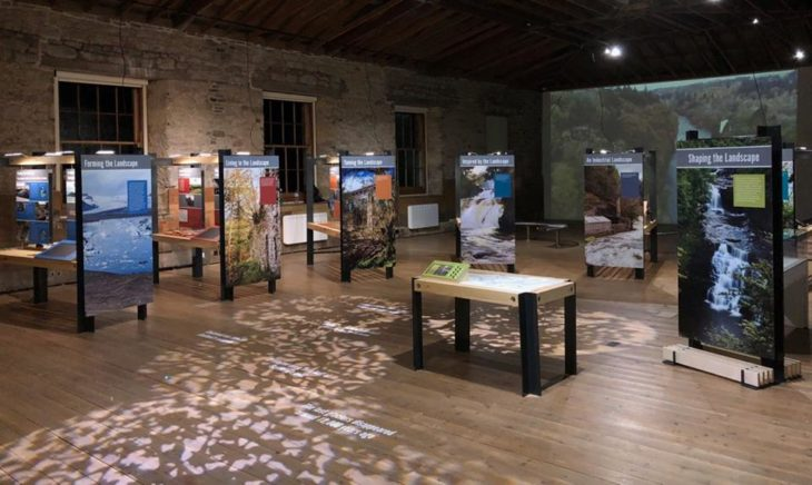 Shaping the Landscape exhibition, New Lanark