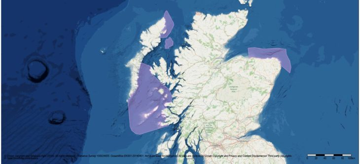 Map of proposed Marine Protected Areas © Marine Scotland