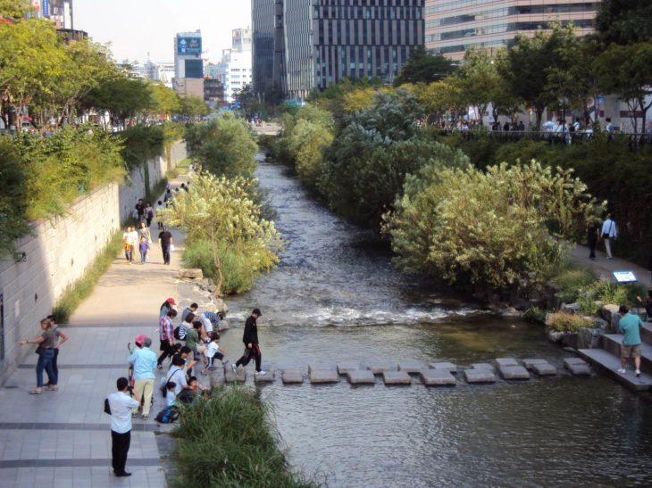This river in Seoul was once covered by a motorway © Jonny Hughes