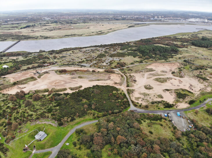 Sand extraction is taking place over five separate sites at Ardeer