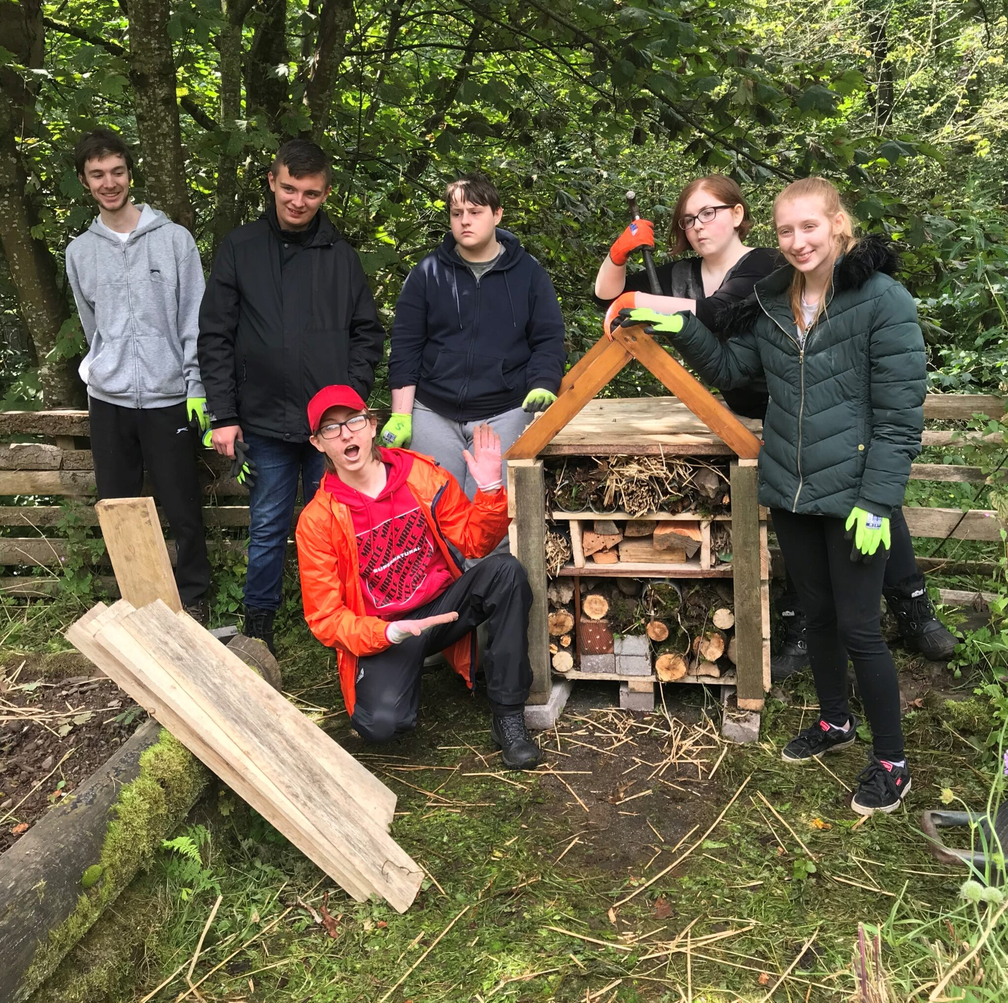 New Bug Hotel at the Falls of Clyde