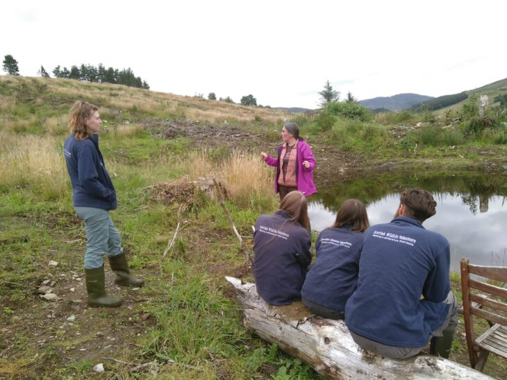 The Perthshire ranger team learning about the Garth Wood project © Sara Rasmussen