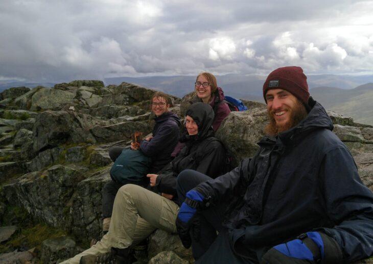 The Perthshire ranger team on the summit of Schiehallion © Sara Rasmussen