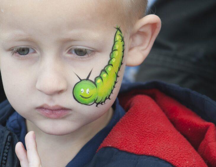 Caterpillar facepaint