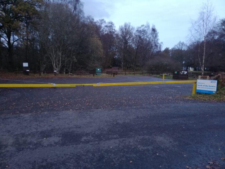 Lowes car park barrier