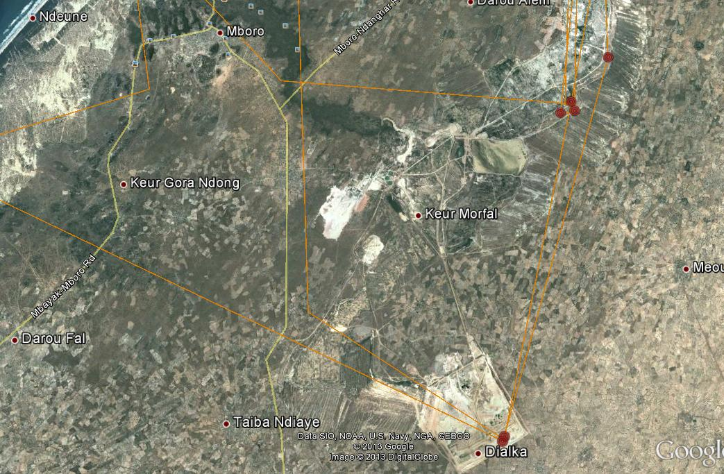 The Senegal Mining area where Blue YD  has been visiting