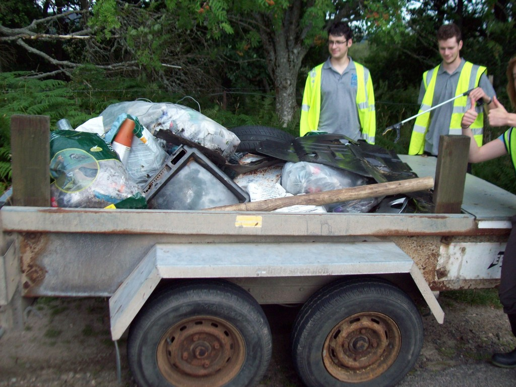 One days work  collecting over a mile of lochside ! Thanks to our SWT volunteers
