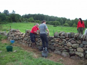 Add the top layer- the capping stones