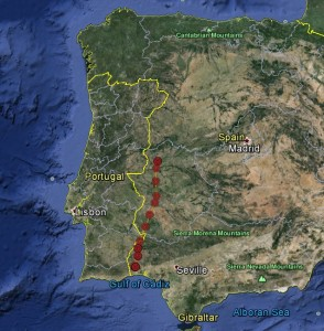 Blue YZ's route the southern Spain, 10th - 12th September