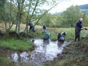 Keltneyburn Pond Restoration 2013- SWT
