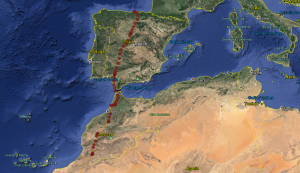 Blue YD continues northwards through Spain - copyright SWT