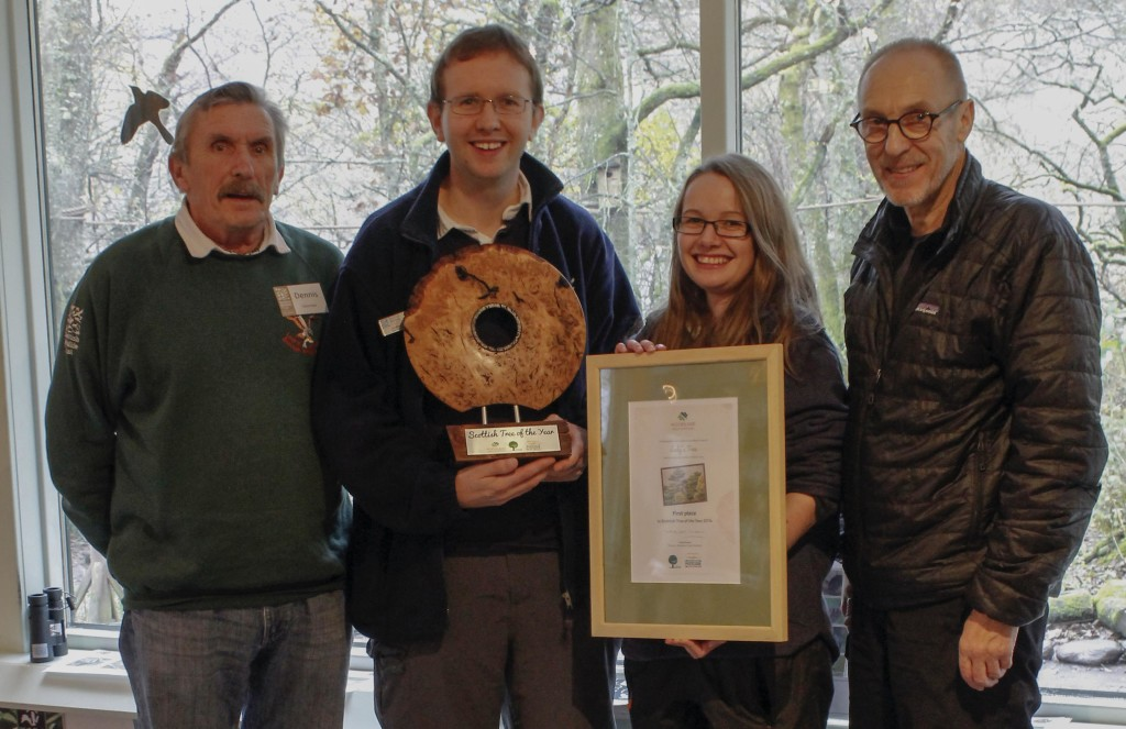 Me and some of the Loch of the Lowes volunteer team with the trophy © Marion Moore