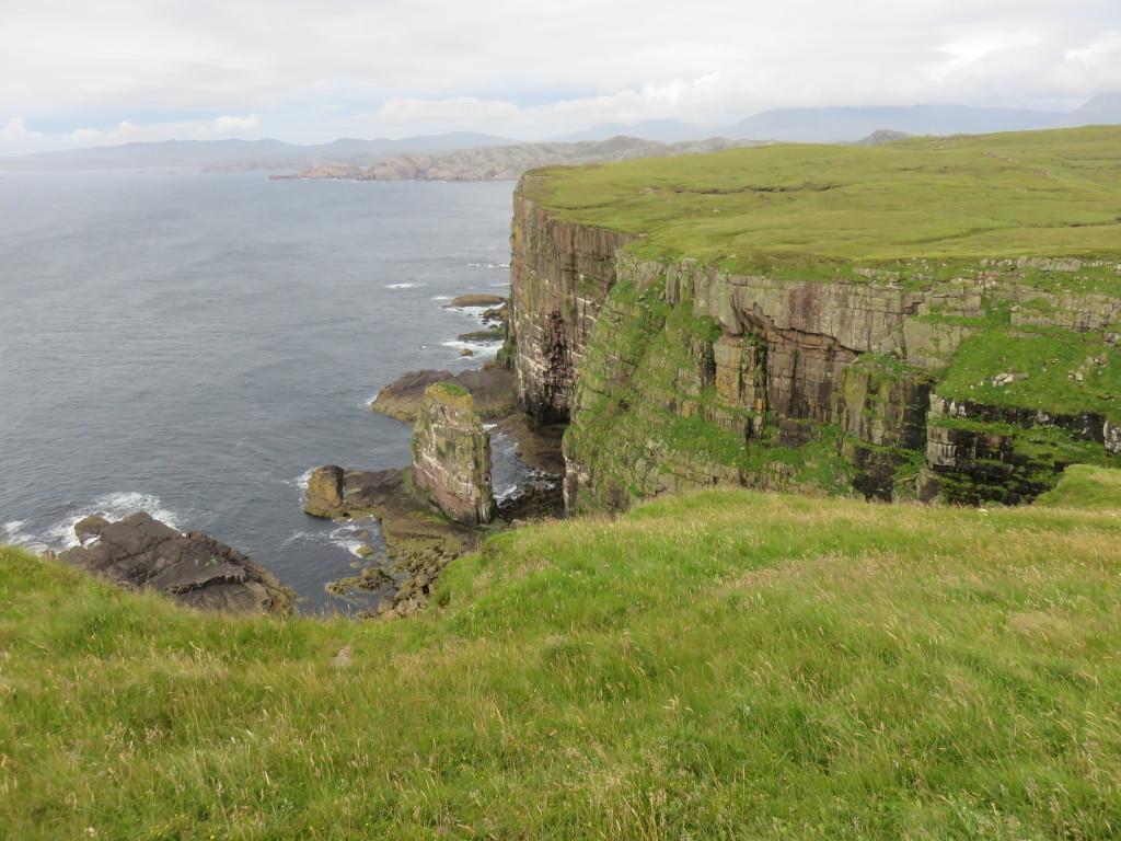 Tall sandstone cliffs of Handa Island © Freya Blockley