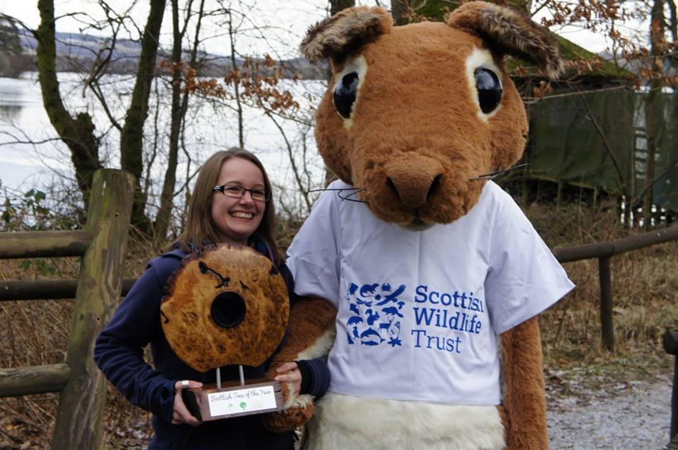 Myself with Sandy the Squirrel © Scottish Wildlife Trust
