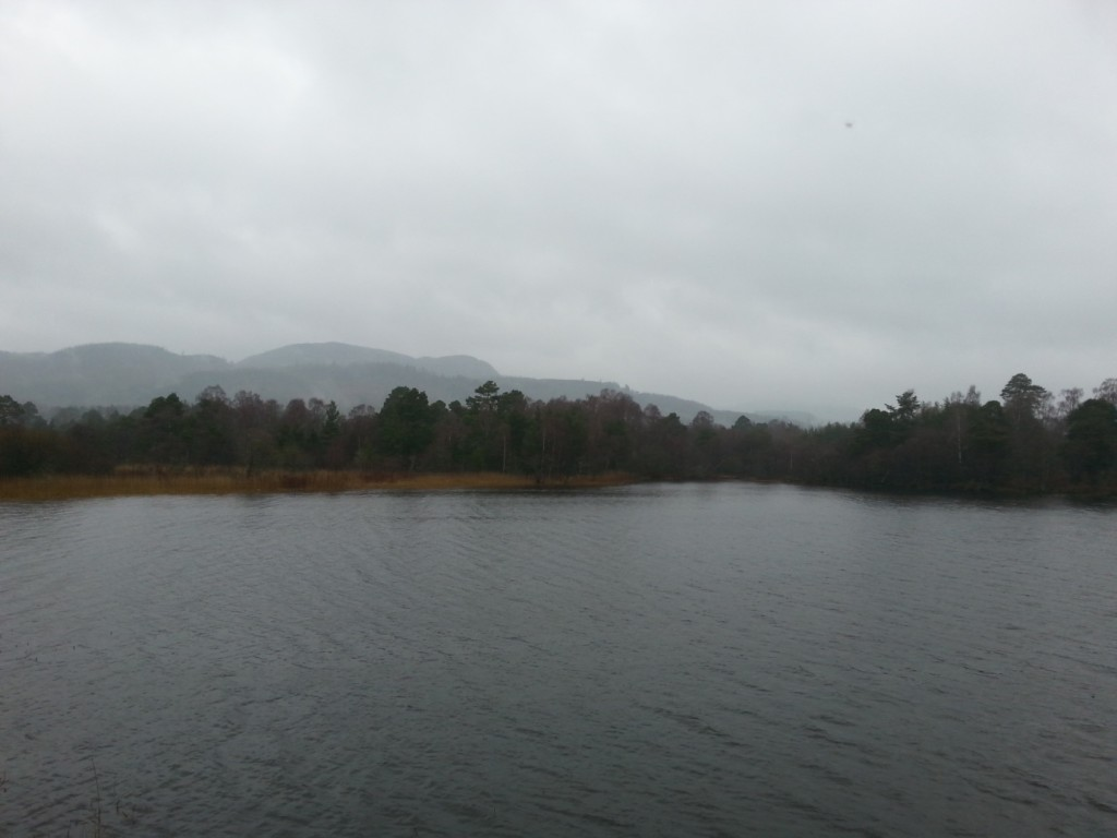 A rainy day at Loch of the Lowes © James Cummings