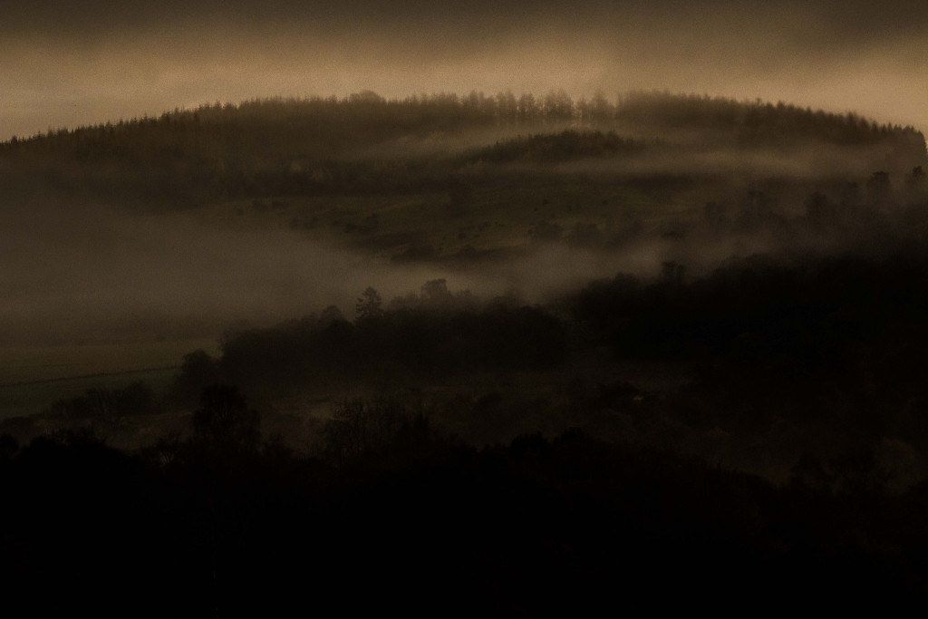 Morning mist rolling down the hills at Loch of the Lowes. Photo taken by Chris Cachia Zammit.