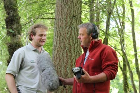 Our protection officer Adam being interviewed for  BBC's 'Out of Doors' © Scott Bland