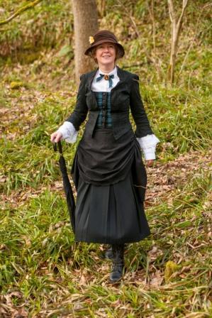 Meet your guide: Lady Geraldine Lockhart Ross at the Falls of Clyde © Paul Watt