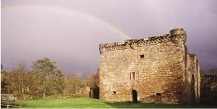 Craignethan Castle is a fantastic location to spot bats on a clear evening © Historic Scotland