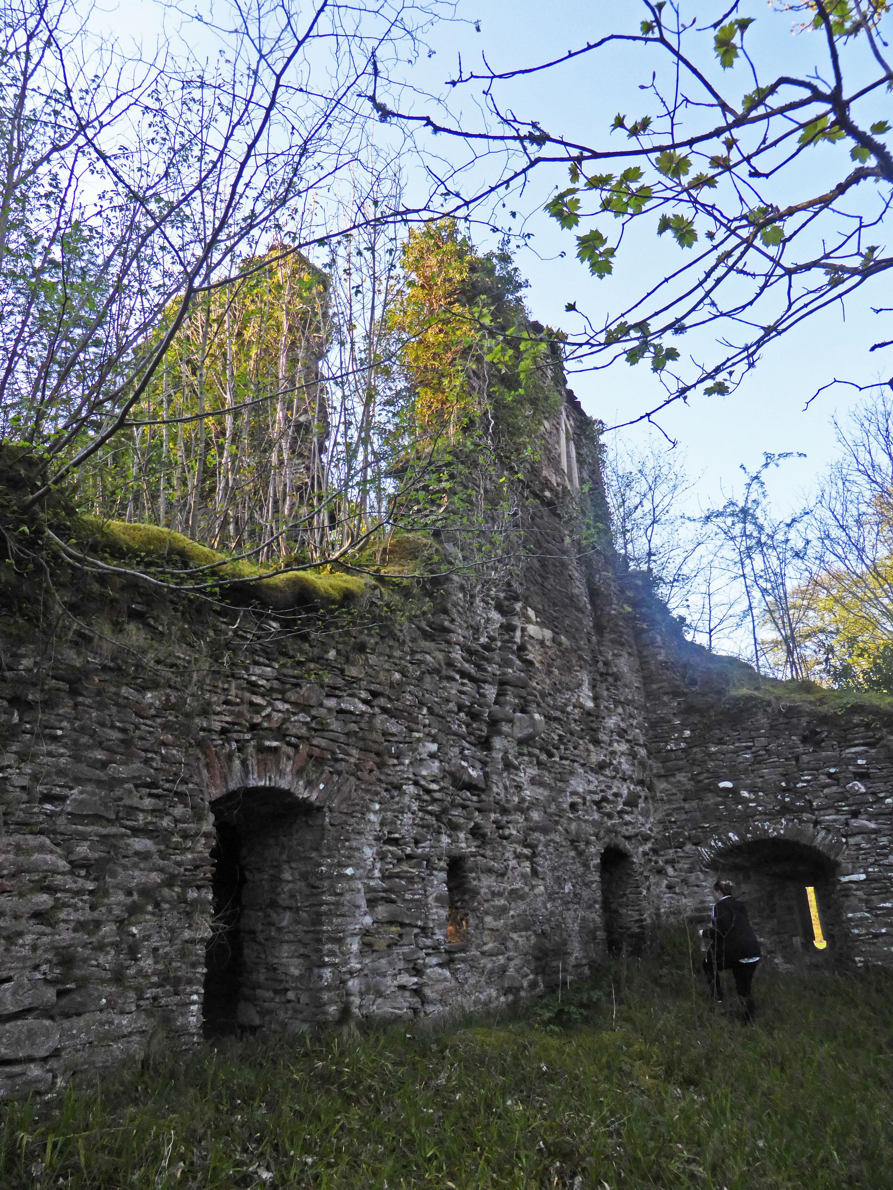 Inside Corra Castle (c) Ewan Bachell