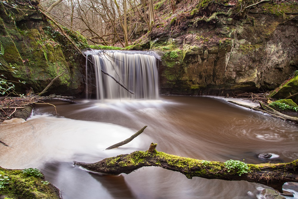 Waterfall taken along the Rosebank-Ashgill-Dalserf circular route (c) Les Hoggan Photography