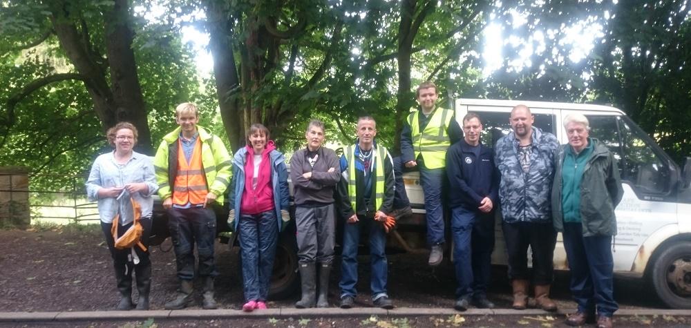 Monthly Mauldslie Woods Volunteers (c) CAVLP