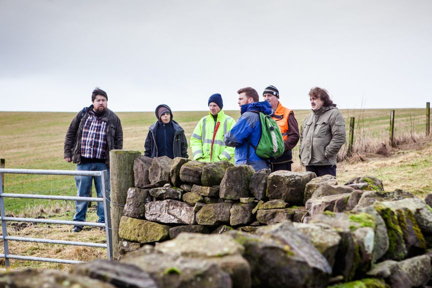 CAVLP Heritage Project Officer Paul Murtagh explores the local landscape with Clydesdale Community Initiatives (C) Archibald Photography Ltd