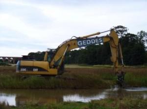 Excavating pools (c) Scottish Wildlife Trust